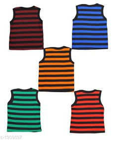 Innerwear Cute Cotton Kids Vest (Pack of 5) Fabric: Cotton Sleeves: Sleeves Are Not Included Size: Age Group (0 Months - 3 Months) - 10 in Age Group (3 Months - 6 Months) - 12 in Age Group (6 Months - 9 Months) - 12 in Age Group (9 Months - 12 Months) - 14 in Age Group (12 Months - 18 Months) - 16 in Age Group (18 Months - 24 Months) - 18 in Age Group (2 - 3 Years) - 20 in Age Group (3 - 4 Years) - 22 in Age Group (4 - 5 Years) - 24 in Type: Stitched Description: It Has 5 Pieces of Kids Vest Work: Printed Sizes Available: 0-3 Months, 0-6 Months, 3-6 Months, 6-9 Months, 6-12 Months, 9-12 Months, 12-18 Months, 18-24 Months, 0-1 Years, 1-2 Years, 2-3 Years, 3-4 Years, 4-5 Years, 5-6 Years *Proof of Safe Delivery! Click to know on Safety Standards of Delivery Partners- https://ltl.sh/y_nZrAV3  Catalog Rating: ★4.1 (4127)  Catalog Name: Kids' Vest Pack Of 5 CatalogID_167403 C59-SC1187 Code: 581-1309597-