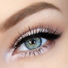 blue eyes, brows, eye, eye shadows, eyebrows, eyelashes, eyeliner, eyes, eyeshadow, girl, goals, green eyes, make up, makeup, mascara, pretty, shimmer, winged eyeliner, First Set on Favim.com, eyelashes bomb