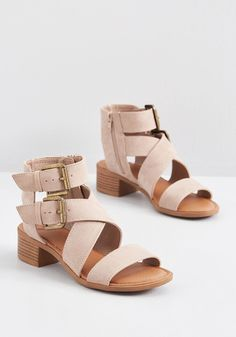 Fix up your look with a fresh pair of white strappy sandals