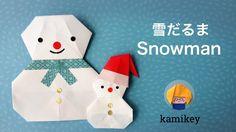 折り紙★雪だるま Snowman origami - YouTube Origami Snowman, Christmas Origami, Etsy Christmas, Origami Cards, Origami And Kirigami, Origami Easy, Paper Origami Flowers, Paper Crafts Origami, Gato Origami