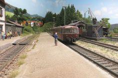 + Zugverkehr in Buchenhüll und Mindelstein Diorama, Escala Ho, Train Layouts, Scale Models, Scenery, Camping, Landscape, Mini, Trains