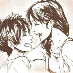AWWW Eren and mama Jager