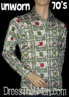 1970's Mens Shirts ORIGINAL and UNWORN Vintage