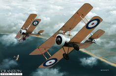 Sopwith Camel.  With a final 47 victories to his credit, Robert Alexander Little was one of the highest-scoring British aces of World War 1, beginning his career with the famous No 8 (Naval) Squadron in 1916, flying Sopwith Pup N5182, as shown here. On 21st April 1917, he was attacked and shot down by six aircraft of Jasta Boelke, Little being thrown from the cockpit of his Sopwith Camel on impact with the ground.