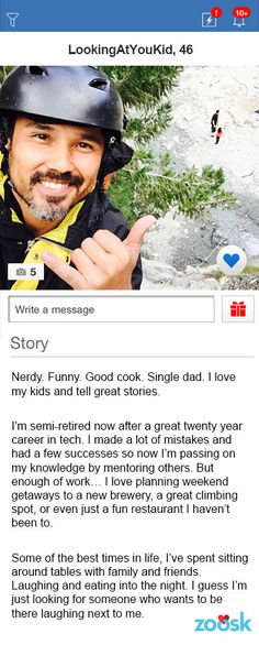 Amazing male dating profile