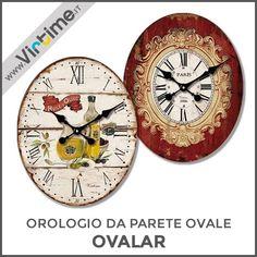 """Orologio da parete ovale. Cassa/Quadrante in legno. Modello """"OVALAR"""" in 4 versioni assortite. Movimento Step. Confezione: Window Box """"Virtime"""" Dimensioni: 31 x 23 cm Ref.: 1143/00  #Virtime #virtimeclock #virtimehome #milan #italy #italiandesign #interiordesign #decoring #italianfurniture #house #homeart #time #clock #orologio #wallclock #wood #numers #shape #oval #ovale"""