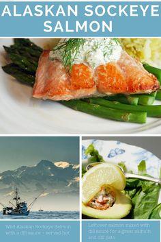 Wild Alaskan Sockeye Salmon with Cream Dill Sauce - Wild Alaskan Salmon Recipe
