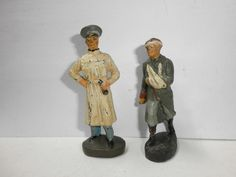 Konvolut 2 alte Hausser Elastolin Massesoldaten Rotkreuz Feldarzt zu 7.5cm | eBay