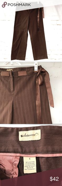 Elevenses Chocolate Brown Slacks Please see pictures for material and measurements coming soon. Elevenses Pants Straight Leg