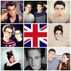 Joe Sugg, Finn and Jack, Alfie Deyes, Marcus Butler, Zoe Sugg, Louise, Caspar Lee, Jim Chapman, and Tanya Burr. The British YouTubers (And South African :D) of my life!!