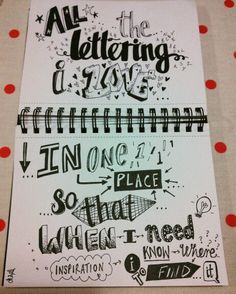 Hand drawn lettering typography fonts