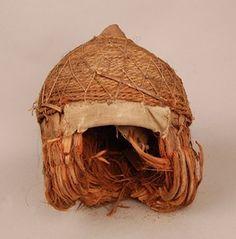 Helmet made of husk (coconut).