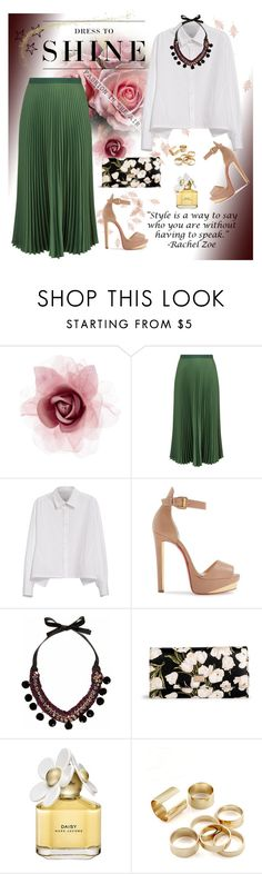 """""""Dress to Shine"""" by fashion-holy ❤ liked on Polyvore featuring Accessorize, Vanessa Bruno, Y's by Yohji Yamamoto, Christian Louboutin, River Island, Dolce&Gabbana, Levi's and Marc Jacobs"""