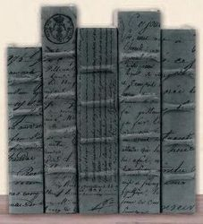 Antique Script Label On Gray Collection
