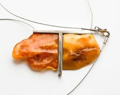 Items similar to Modern Necklace Natural Baltic Amber, on Etsy Amber Ring, Amber Jewelry, Silver Jewellery, Jewlery, Diy Jewelry, Jewelry Necklaces, 18 Days, Baltic Amber, Processing Time