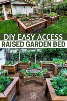 DIY Easy Access Raised Garden Bed - If I were to make this garden bed I would use heat treated (HT) pallets so I didn't have to pay for lumber.
