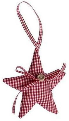 red gingham christmas star by the contemporary home | notonthehighstreet.com
