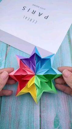 Cool Paper Crafts, Paper Crafts Origami, Diy Crafts Hacks, Diy Crafts For Gifts, Diy Craft Projects, Fun Crafts, Crafts For Kids, Origami With A4 Paper, Diy Paper