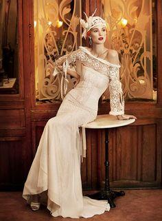 ivory-vintage-wedding-dress.001 — Wedding Ideas, Wedding Trends, and Wedding Galleries