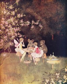 ≍ Nature's Fairy Nymphs ≍ magical elves, sprites, pixies and winged woodland faeries - Ida Rentoul Outhwaite 'The Revoke' 1931 Fairytale Fantasies, Fairytale Art, Fairy Land, Fairy Tales, Fairy Paintings, Elves And Fairies, Vintage Fairies, Love Fairy, Beautiful Fairies