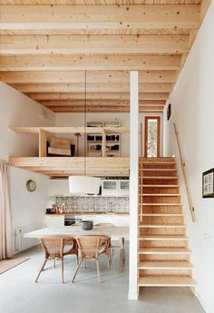 Cosy Interior Best Scandinavian Home Design Ideas The Best of h Tiny House Loft, Modern Tiny House, Tiny House Living, Small House Design, Tiny House With Stairs, Living Room, Apartment Interior Design, Apartment Ideas, Cosy Interior