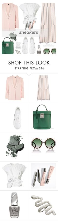 """So Fresh..."" by unamiradaatuarmario ❤ liked on Polyvore featuring Topshop, See by Chloé, Versus, Mark Cross, Bobbi Brown Cosmetics, Chloé, OPI and whitesneakers"