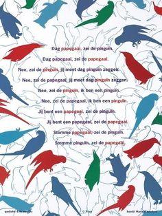 Poëziekaart Plint - De pinguïn en de papagaai