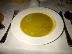 The lovely potato, asparagus and dill soup from Rafael's, in Stockbridge, was outstanding :-)