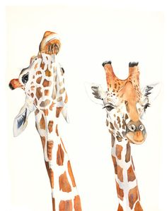 Hey, I found this really awesome Etsy listing at https://www.etsy.com/listing/210723234/giraffe-print-5-by-7-print-print-of