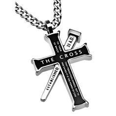 Armor of God Established Cross Necklace, Black Cross Nails, Mens Crosses, Armor Of God, Cross Jewelry, Men's Jewelry, Silver Jewelry, Cross Necklaces, Silver Ring, Rings