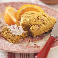Pumpkin Scones with Berry Butter - Taste of Home Courtey of Judy Wilson, Sun City West, Arizona