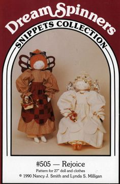 rag doll soft sculpture pattern angel 27 inch clothing Dream Spiiners Snippets