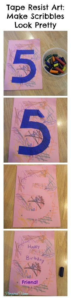 Pinspired Home: Toddler Fun: Tape Resist Art