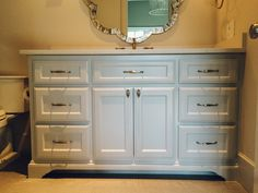 Projects | Village Cupboards A secondary bathroom vanity--paint grade