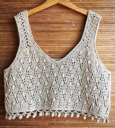 Pull Crochet, Crochet Crop Top, Crochet Cardigan, Diy Crochet, Crochet Baby, Knitting Designs, Knitting Patterns, Crochet Patterns, Motif Bikini Crochet