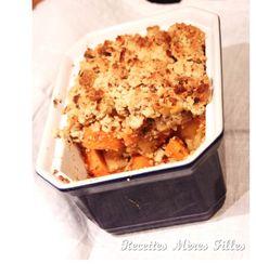La recette Légumes anciens : Crumble de panais et patates douces