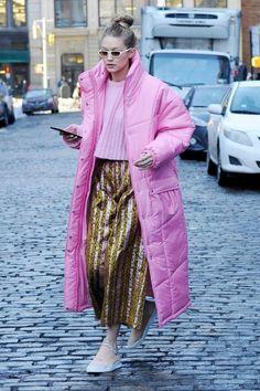 Gigi Hadid #streetstyle #2018 #NewYork #model