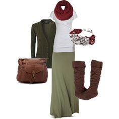 A fashion look from August 2013 featuring cable knit cardigan, t shirts and rayon maxi skirt. Browse and shop related looks. Look Fashion, Autumn Fashion, Fashion Outfits, Womens Fashion, Pretty Outfits, Cute Outfits, Modelos Fashion, Fall Winter Outfits, Winter Maxi