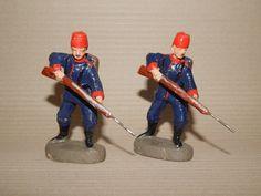 Antike Soldaten 10.5 cm Elastolin Türken mit Fez oder Tarbusch beim Tiefstoß   eBay