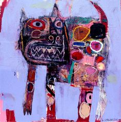 I love this cat, wonder if he says MEOW. :-)    artistjournals:        Lyle Carbajal