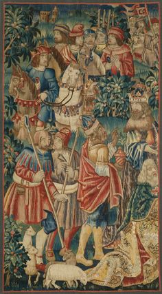 """TAPESTRY """"LES TROIS MAGES"""",  Renaissance, Tournai, circa 1520.     Sold for CHF 60 000"""