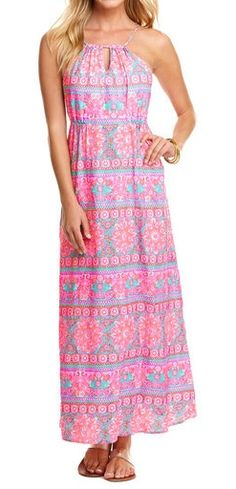 Caribbean Floral Maxi Dress