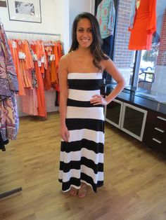 The Buzz Boutique — Beyond Fascination Maxi Dress or Maxi Skirt in Black and White