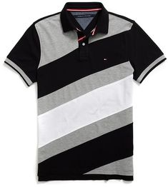 b368c3f068 Shop for Tommy Hilfiger Custom Fit Pieced Polo at ShopStyle. Camisetas Polo