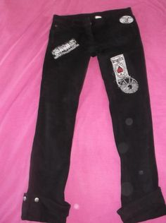 LIP SERVICE Stretch-Twill Patched Up pants #63-143