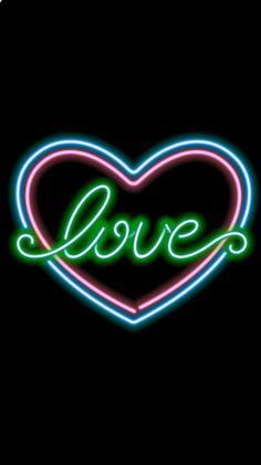 Walpaper Black, Neon Wallpaper, Backgrounds, Hearts, Neon Signs, Wallpapers, Flowers, Prints, Life