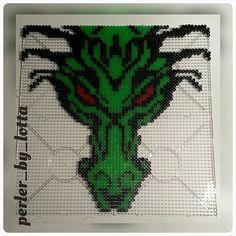 Dragon perler beads by perler_by_lotta