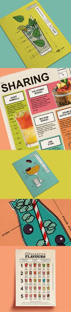 'The Perfect Cocktail' menu design for Revolution Bars Cocktail Menu, Menu Design, Revolution, Social Media, Content, Graphic Design, Marketing, Social Networks, Visual Communication