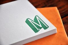 Cheap Monogram CUSTOM LETTERPRESS stationary!!  Click to link to etsy!!