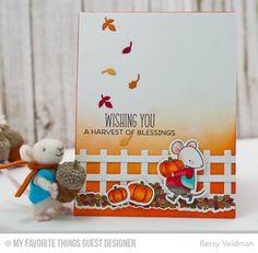 Harvest Mouse, Harvest Mouse Die-namics, Prairie Fence Die-namics, Thankful Friends Die-namics - Betsy Veldman  #mftstamps